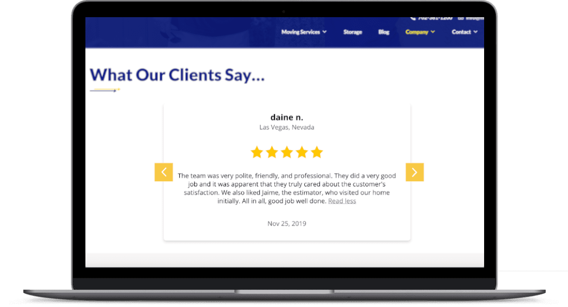 Easily showcase your positive reviews